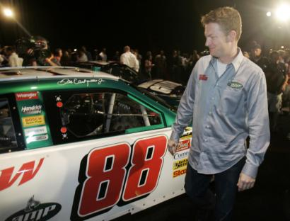 Jr. with the #88 AMP car