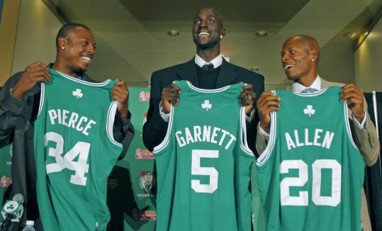Paul Pierce thought he might be traded during the offseason, but with the arrival of All-Stars Kevin Garnett and Ray Allen, the Celtics captain knew he'd be staying. And he's thrilled about it.
