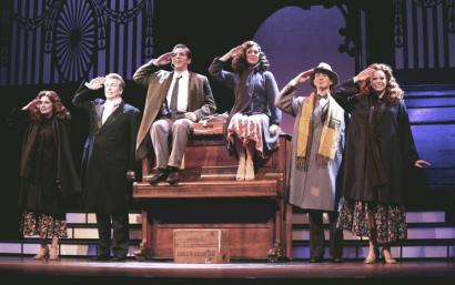 From left: Karla Shook, Johnnie Moore, Sean Schwebke, Darcie Bender, Mark Baratelli, and Summer Broyhill in 'Irving Berlin's I Love a Piano' at the Cutler Majestic Theatre.