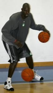 Ten-time NBA All-Star Kevin Garnett took his first official practice as a member of the Celtics quite seriously.