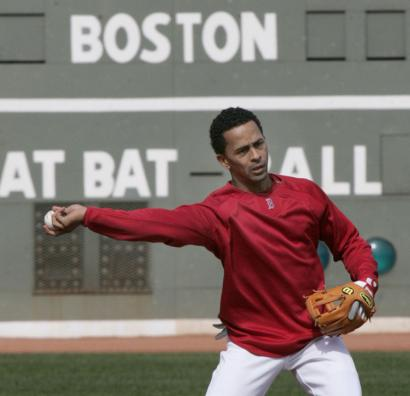 Julio Lugo was one of the Red Sox regulars who showed up for an optional workout at Fenway Park yesterday.