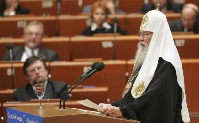 Russian Orthodox Patriarch Alexy II spoke to the Parliamentary Assembly of the Council of Europe yesterday.