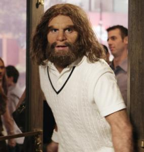 Bill English is the lead caveman in the series.