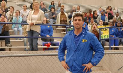 Kyle Chandler plays Eric Taylor, who is coaching college football in Austin this season, on 'Friday Night Lights.'