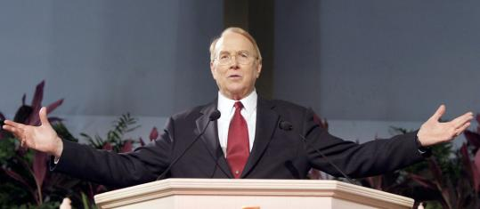 James Dobson, whose radio program has 1.5 million listeners, said yesterday that he would back a 'minor party' candidate if the Republican nominee is not conservative enough.