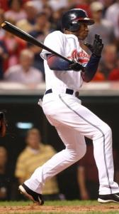 Kenny Lofton smacks a two-run single in the first inning, one of his three hits.