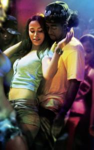 Zulay Henao (left) and Omarion Grandberry star in this homage to reggaeton music co-produced by Jennifer Lopez.