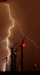 Lightning can go from cloud to ground, from ground to cloud, and from cloud to cloud.