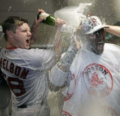 Jonathan Papelbon (left) was in a playful mood with David Ortiz Sunday, but it's no fun when he's struck by a migraine.