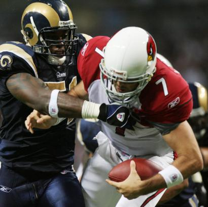 It was this sack by linebacker Will Witherspoon of Matt Leinart that shelved the Arizona quarterback for the season.