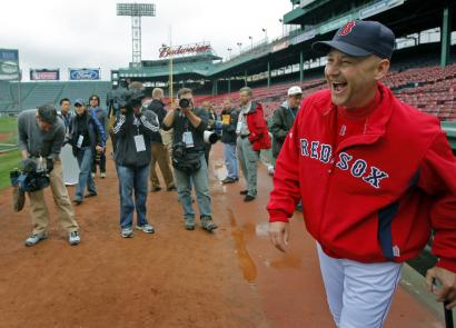 There was plenty of reason for manager Terry Francona to be all smiles yesterday, with a division title and baseball's best record.