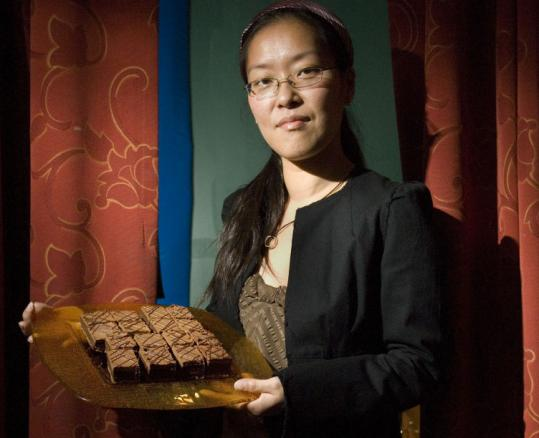 Blanche Ip shows off her prize-winning Earl Grey brownies.