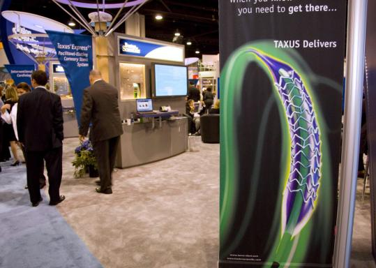 A poster for Boston Scientific at the American College of Cardiology 2006 Summit in Atlanta. Its stent sales have suffered since studies questioned the safety of drug coatings.