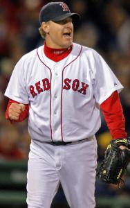 That playoff intensity was there for Curt Schilling in Game 2 against the Indians, but the results weren't to his liking.