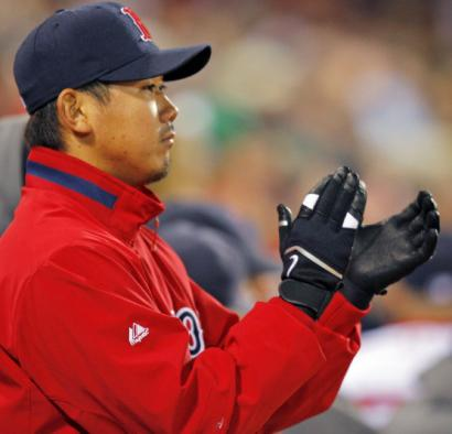 Daisuke Matsuzaka cheered his team to victory in Game 6. Now the Japanese star gets a chance to send the Sox to the World Series.