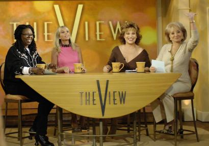 Elisabeth Hasselbeck (in pink, with, from left, Whoopi Goldberg, Joy Behar, and Barbara Walters) 'speaks to a huge constituency of women where it's fair to say the Republican Party needs some help,' says GOP consultant Frank Donatelli.