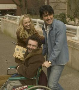 Clockwise from top: Melissa George, Ron Livingston, and Michael Sheen.