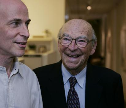Roger and Arthur Kornberg celebrated after the younger Kornberg was awarded the Nobel Prize in Chemistry in 2006.