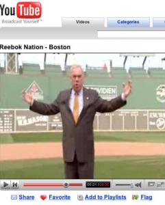 Mayor Thomas M. Menino appears in a new ad by Reebok. The commercial also features Dorchester native Donnie Wahlberg, who narrates it, and former Boston College and Patriots quarterback Doug Flutie, who says, 'This is Reebok Nation.'