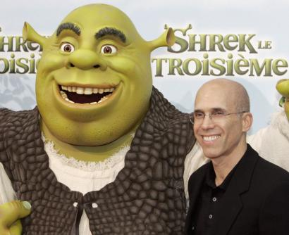 DreamWorks Animation chief executive Jeffrey Katzenberg sees green with and from Shrek, as company profits quadrupled in the third quarter to $47 million.