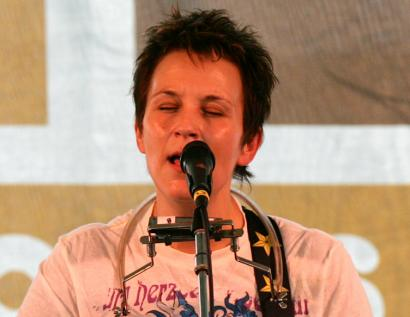Mary Gauthier (shown here in 2006) performed her repertoire of down-and-out songs at Club Passim on Monday.