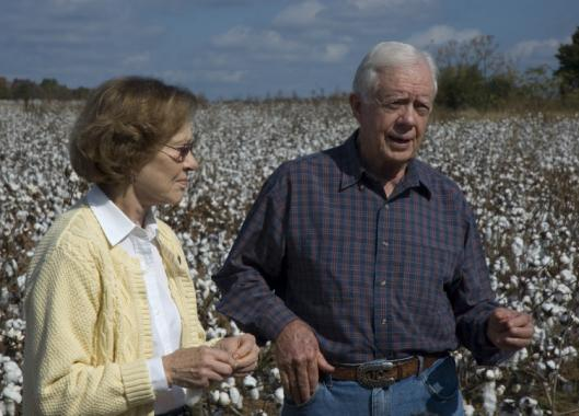 Former president Jimmy Carter, with his wife Rosalynn, defends his views in a new documentary.