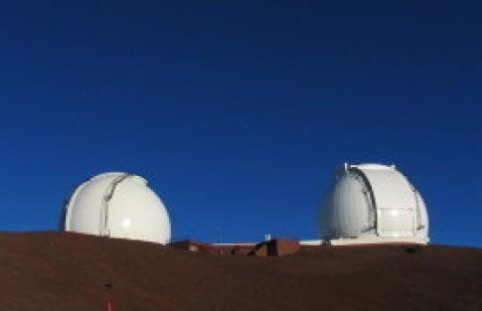 Mirrors on the twin Keck telescopes measure 32 feet in diameter. The Magellan telescope mirrors will stretch 80 feet.