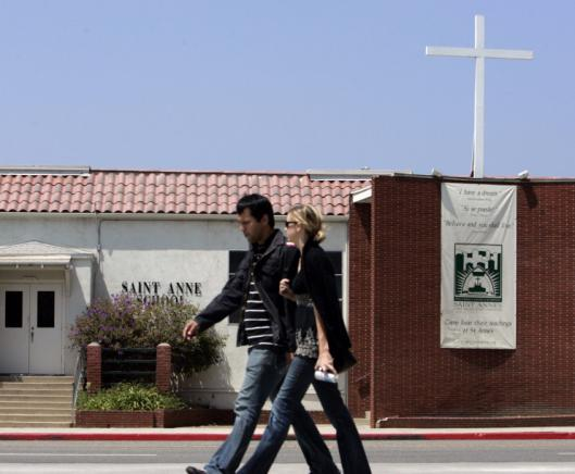 St. Anne Catholic School in Santa Monica, Calif., has managed to remain open by relying on tuition and private fund-raising.