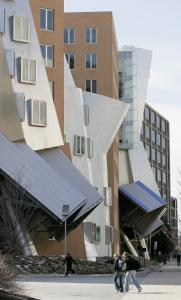 MIT's $300 million Stata Center in Cambridge, designed by architect Frank Gehry, was completed in the spring of 2004.