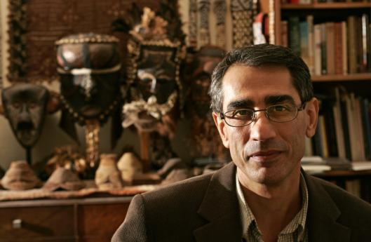 Saad Eskander, director of the Iraq National Library, at the Cambridge home of Harvard archivist Jeffrey B. Spurr. He speaks at the Boston Public Library today.