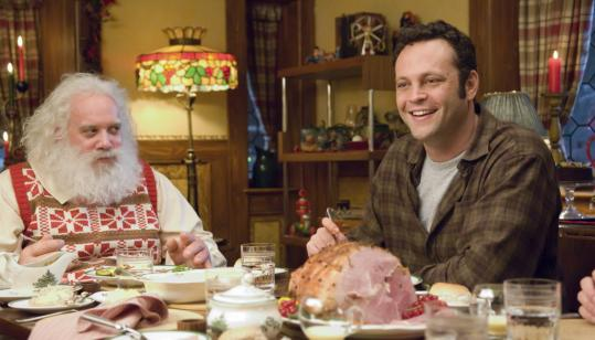 Paul Giamatti (left) plays the Claus who made good and Vince Vaughn is his ne'er-do-well brother in this satisfying homecoming story.