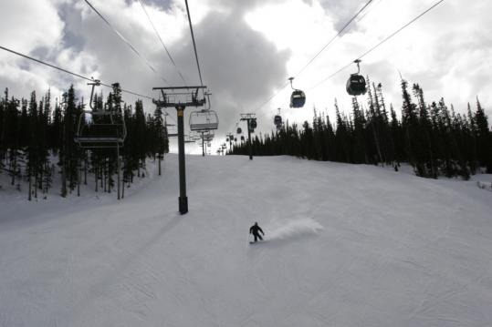 Under a winter sky, one last run of the day at Keystone Resort in Keystone, Colo. The area opened Nov. 2 for the new season.