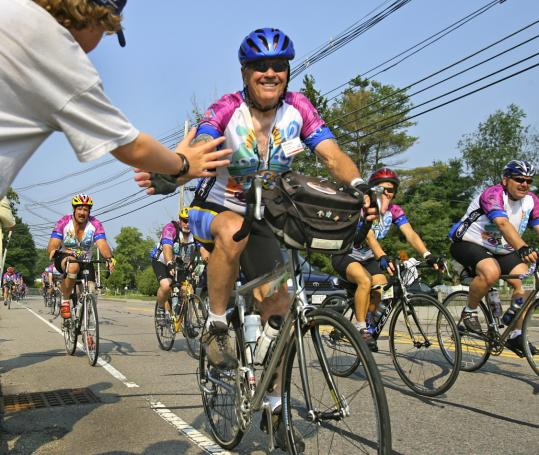 The Pan-Massachusetts Challenge offers several one- and two-day routes that cover 360 miles in 46 cities and towns. About 5,100 cyclists participated this year, a 20 percent increase from 2006.