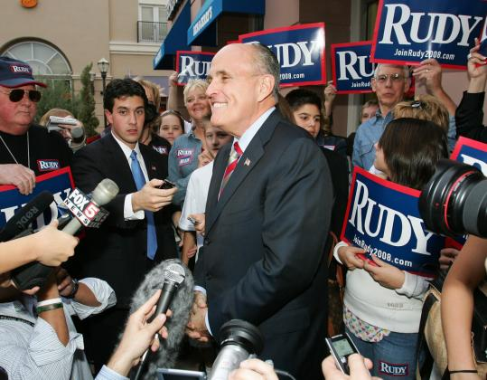 Giuliani campaign strategists believe that 'Rudy!' is more than a tabloid headline and, like other political operatives, are banking on building support with informality.