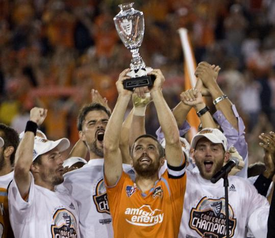 Winning their second straight Western Conference title was an uplifting experience for Wade Barrett and the Dynamo.