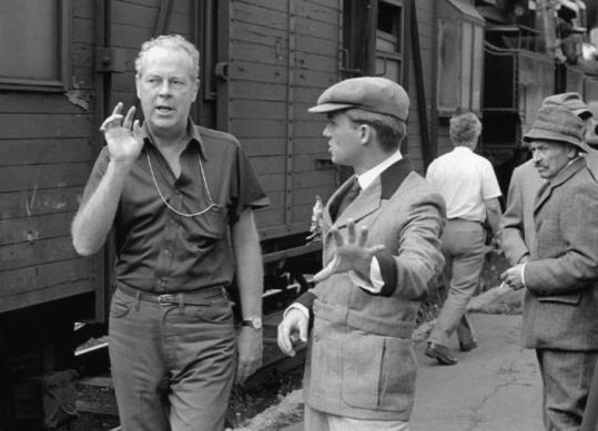 Delbert Mann, directing on the set of the remake of 'All Quiet on the Western Front.'