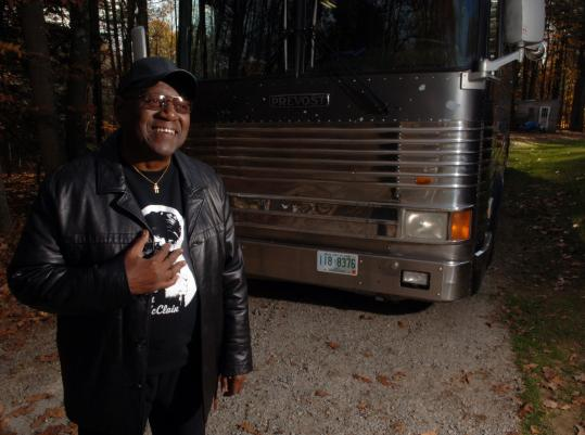Sam McClain, who once lived on the streets before owning his o wn tour bus, will sing at 'The Give US Your Poor Concert for Boston's Homeless.'