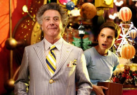 Dustin Hoffman plays the title character, a 243-year-old toy-shop owner, and Natalie Portman portrays his clerk in 'Mr. Magorium's Wonder Emporium.'