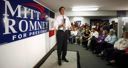 Mitt Romney, speaking at a campaign office in Iowa this week, takes pride in the healthcare overhaul he helped enact in Massachusetts, but as a presidential candidate, his health plan for the nation would not mandate a sign-up penalty.