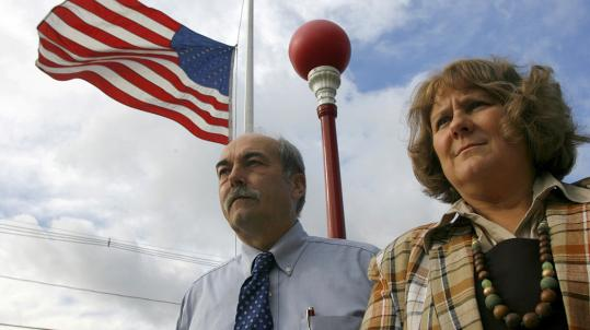 In the wake of last year's Danversport explosion, says Danvers Chief James Tutko (left), department secretary Nancy Libby 'kept the department running for a week.'