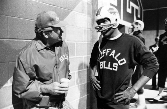 Jim Ringo, with Buffalo Bills running back O.J. Simpson, when Mr. Ringo was head coach of the Bills.