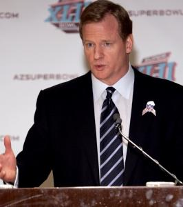 NFL commissioner Roger Goodell seems determined to keep the Patriots-Giants game on The NFL Network.