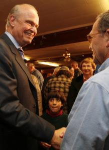 Republican presidential hopeful Fred Thompson of Tennessee made a campaign stop on Friday at a VFW Hall in Laconia, N.H.