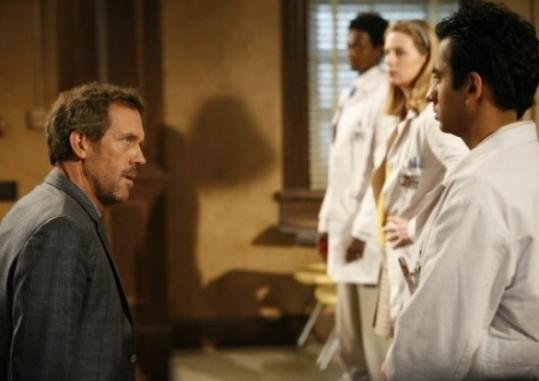 This season, Dr. House (Hugh Laurie, left) has been running a 'Survivor'-like contest among a group of doctors vying to be on his team.