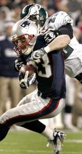 The Eagles couldn't hold back receiver Wes Welker; he finished with 13 catches for 149 yards.