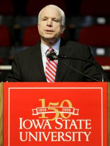 Senator John McCain dipped in polls in Iowa after criticizing ethanol subsidies.