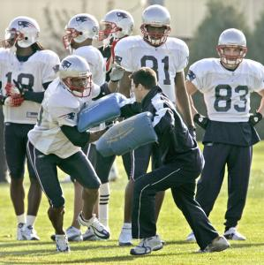 He emerged from the pack during a practice drill, but the question is whether newly activated Troy Brown can find meaningful work among the Patriots' seven receivers, the most in the NFL.