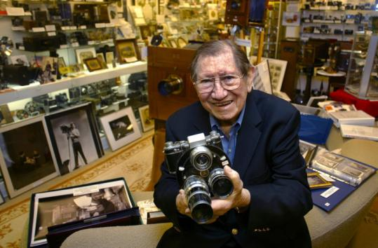 Thurman Naylor, with a vintage Rectaflex safari camera. He amassed one of the largest private photography collections.