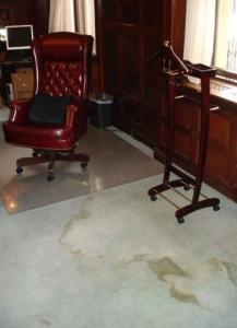 This is one of the four photos that DiMasi's office emailed to reporters showing 'one of numerous stained areas.'