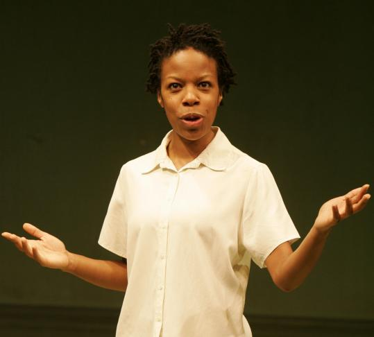 Nilaja Sun plays 16 characters in a high school - from teachers to a janitor - in 'No Child . . .'